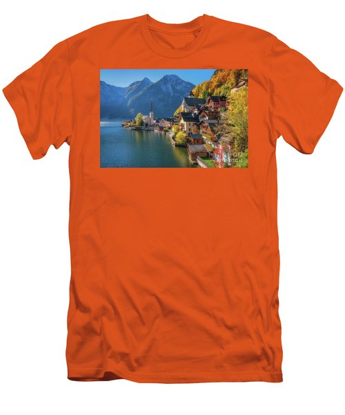 Colourful Hallstatt Men's T-Shirt (Athletic Fit)