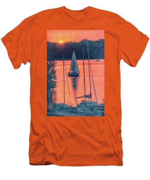 Come Sail Away Men's T-Shirt (Slim Fit) by Pamela Williams