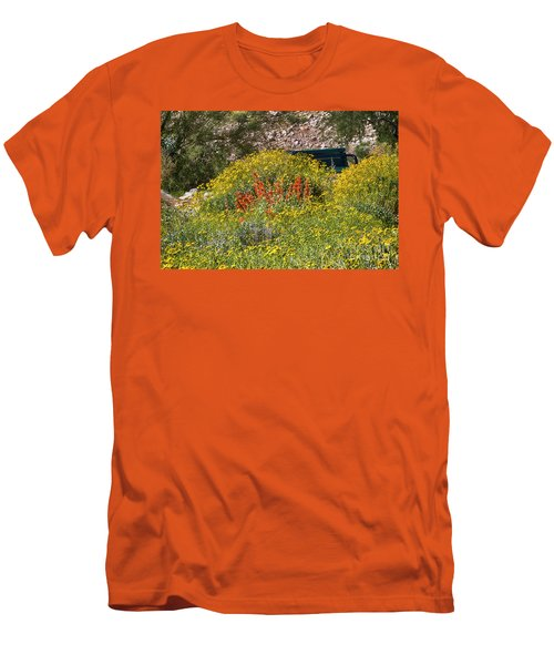 Come Sit Awhile Men's T-Shirt (Slim Fit) by Anne Rodkin
