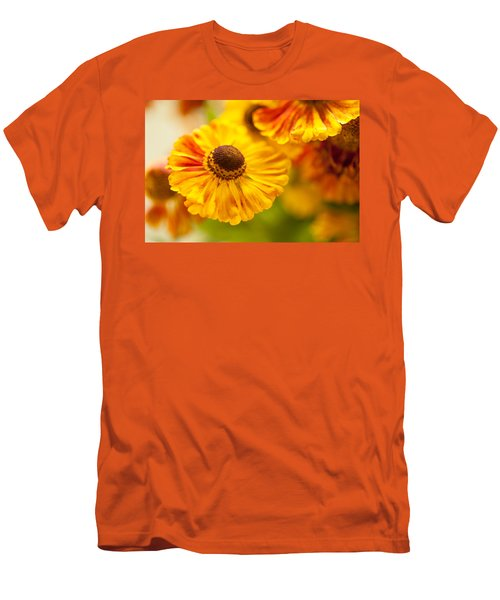 Men's T-Shirt (Athletic Fit) featuring the photograph Coneflower Macro by Jenny Rainbow