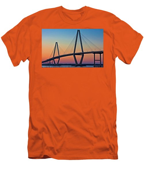 Cooper River Bridge Sunset Men's T-Shirt (Athletic Fit)