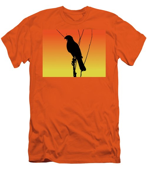 Coopers Hawk Silhouette At Sunset Men's T-Shirt (Athletic Fit)