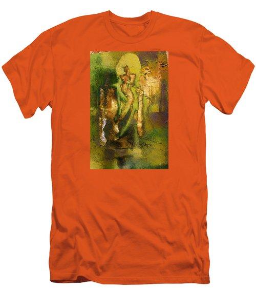 Copper Hair Men's T-Shirt (Slim Fit) by Andrea Barbieri