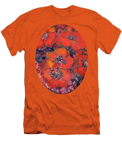 Coral Poppies Men's T-Shirt (Athletic Fit)