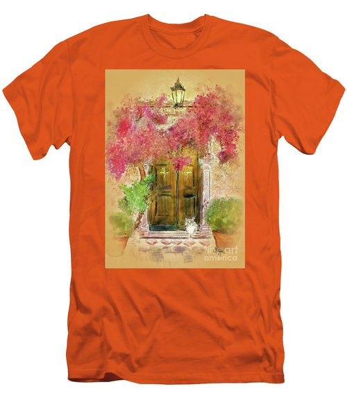 Men's T-Shirt (Slim Fit) featuring the digital art Corfu Kitty by Lois Bryan