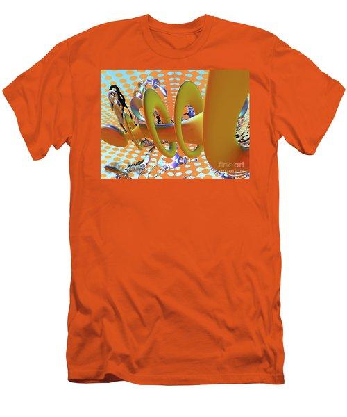 Corkscrew Men's T-Shirt (Slim Fit) by Melissa Messick