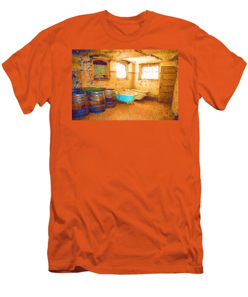 Men's T-Shirt (Slim Fit) featuring the digital art Cornered by Holly Ethan