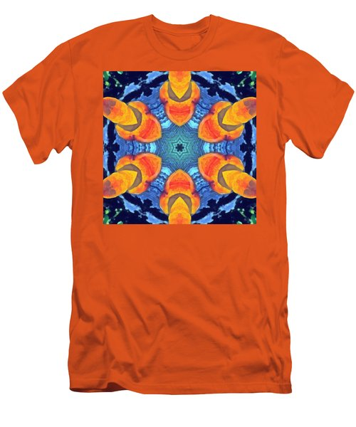 Men's T-Shirt (Athletic Fit) featuring the painting Cosmic Fluid by Derek Gedney