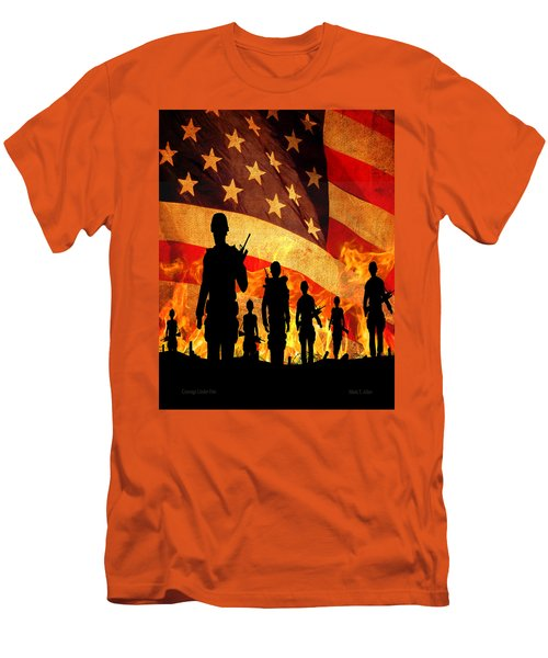 Courage Under Fire Men's T-Shirt (Slim Fit) by Mark Allen