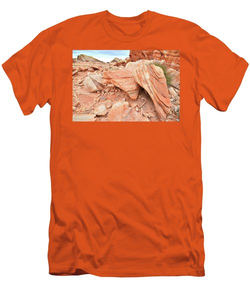 Men's T-Shirt (Slim Fit) featuring the photograph Cove Of Sandstone Shapes In Valley Of Fire by Ray Mathis