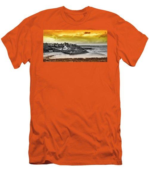 Crail Harbour Men's T-Shirt (Slim Fit) by Jeremy Lavender Photography