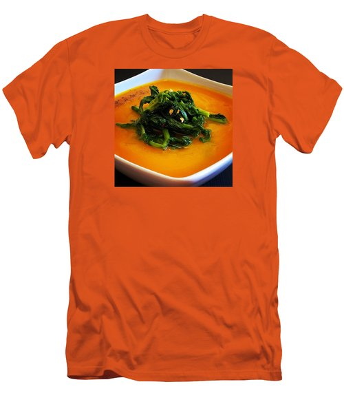 Cream Pumpkin With Broccoletti Sauteed Men's T-Shirt (Athletic Fit)