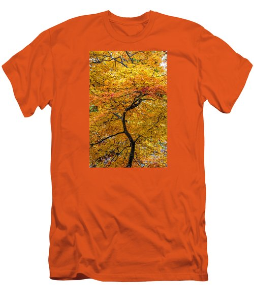 Men's T-Shirt (Slim Fit) featuring the photograph Crooked Tree Trunk by Barbara Bowen