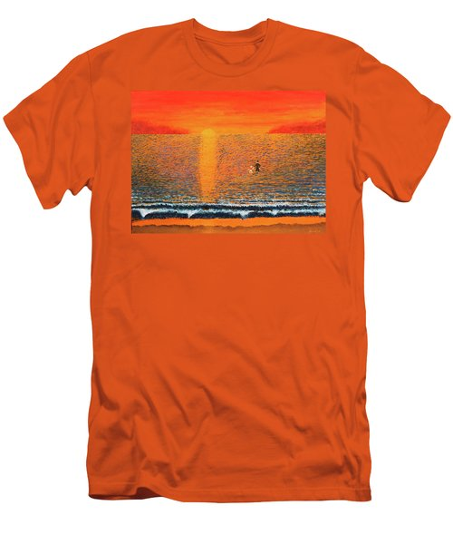 Men's T-Shirt (Slim Fit) featuring the painting Crossing Over by Thomas Blood