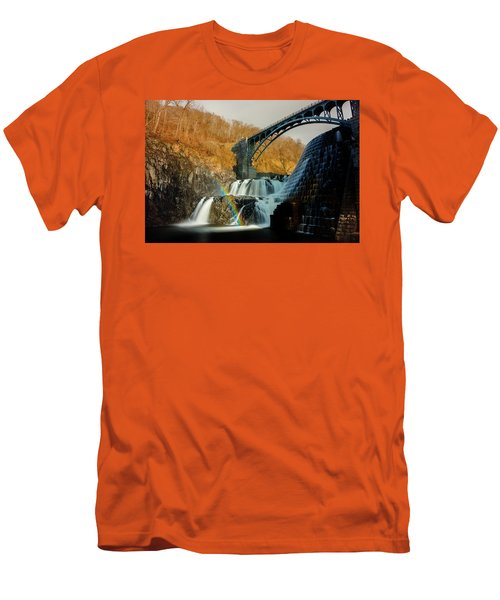 Croton Dam Rainbow Spray Men's T-Shirt (Athletic Fit)