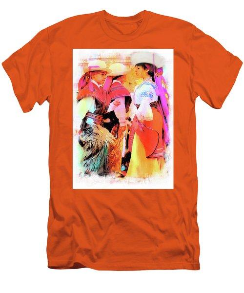 Men's T-Shirt (Slim Fit) featuring the photograph Cuenca Kids 884 by Al Bourassa