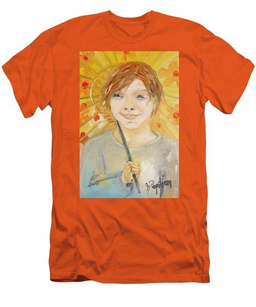 Cuz I'm Happy Men's T-Shirt (Slim Fit) by Evelina Popilian