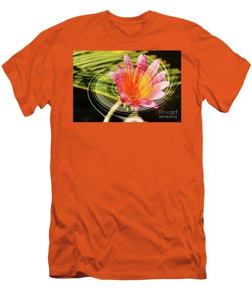 Daisy Swirl Men's T-Shirt (Slim Fit) by Debby Pueschel