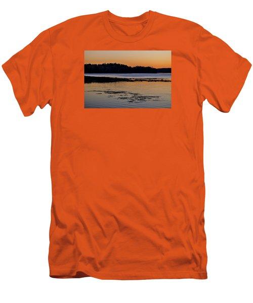 Damariscotta Twilight Men's T-Shirt (Slim Fit) by Tom Singleton