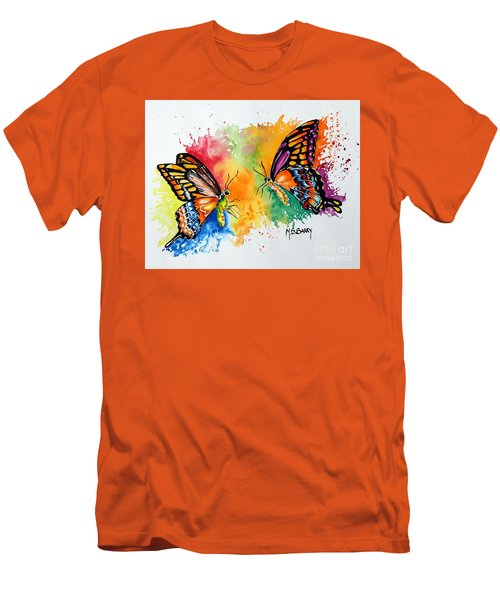 Dance Of The Butterflies Men's T-Shirt (Slim Fit) by Maria Barry