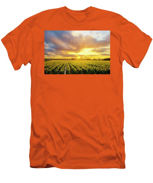 Dances With The Daffodils Men's T-Shirt (Slim Fit) by Ryan Manuel