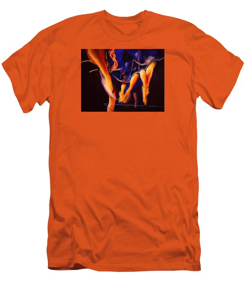 Men's T-Shirt (Slim Fit) featuring the painting Dancing by Georg Douglas