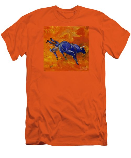Men's T-Shirt (Slim Fit) featuring the painting Danny At The Rodeo by Janice Rae Pariza