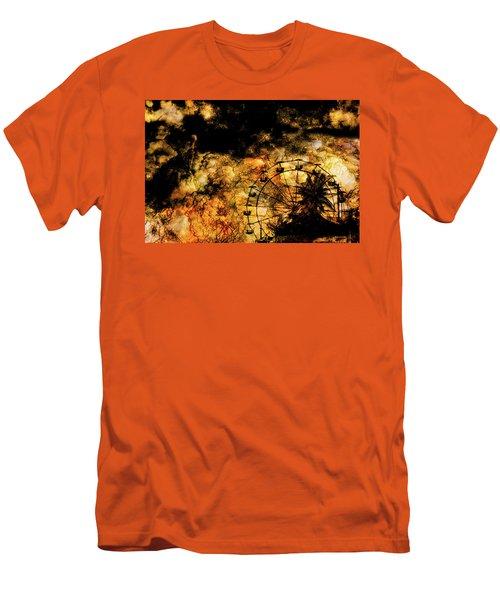 Dark Ferris Wheel Men's T-Shirt (Slim Fit) by Don Gradner