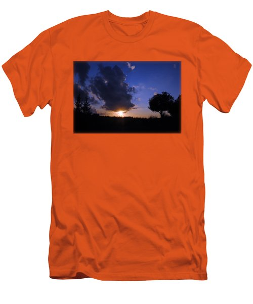 Dark Sunset T-shirt 2 Men's T-Shirt (Slim Fit) by Isam Awad