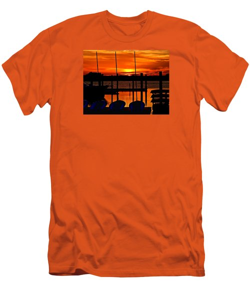Men's T-Shirt (Slim Fit) featuring the photograph Day Is Done by Laura Ragland