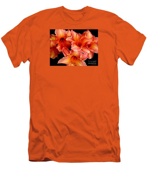 Daylilies 1 Men's T-Shirt (Slim Fit) by Rose Santuci-Sofranko