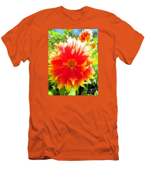 Dazzling Dahlia Men's T-Shirt (Slim Fit) by Elizabeth Dow
