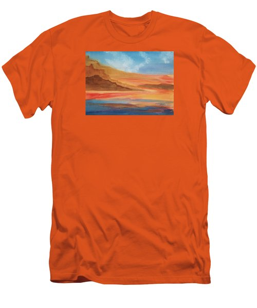 Men's T-Shirt (Slim Fit) featuring the painting Death Valley by Ellen Levinson