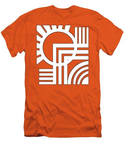 Deco Design White Men's T-Shirt (Slim Fit) by Chuck Staley