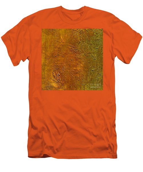 Men's T-Shirt (Slim Fit) featuring the mixed media Deep Gold by Michael Rock