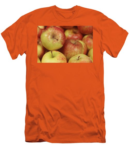 Delicious Apple Fruit Background Men's T-Shirt (Athletic Fit)