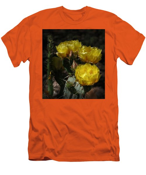 Desert Blooming Men's T-Shirt (Slim Fit) by Elaine Malott