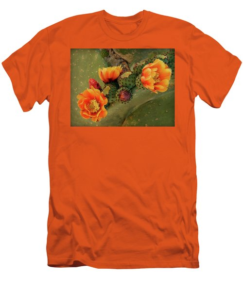 Men's T-Shirt (Slim Fit) featuring the photograph Desert Flame by Lucinda Walter
