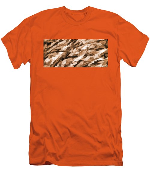 Designer Camo In Beige Men's T-Shirt (Athletic Fit)