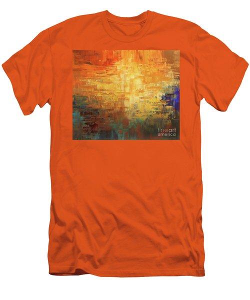 Men's T-Shirt (Slim Fit) featuring the painting Dinosaur Lowlands by Tatiana Iliina