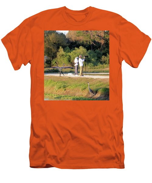 Men's T-Shirt (Slim Fit) featuring the photograph Do You See Any Birds? by Rosalie Scanlon