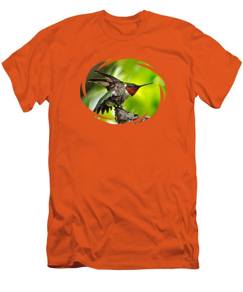 Men's T-Shirt (Athletic Fit) featuring the photograph Dominant Hummingbird Pose by Christina Rollo