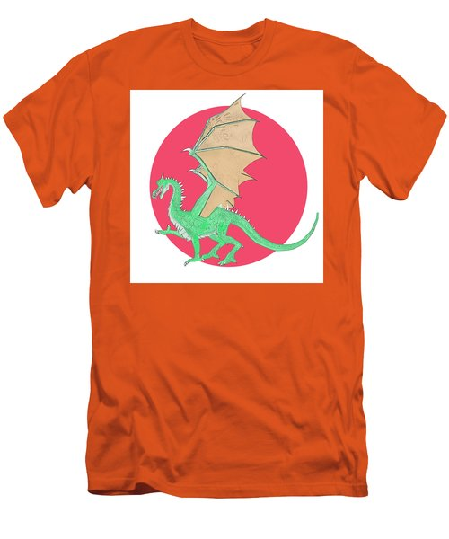 Dragon Illustration 1 Men's T-Shirt (Athletic Fit)