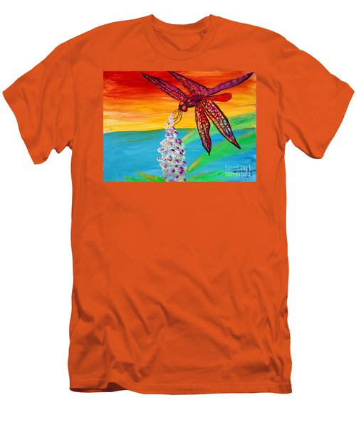 Dragonfly Ecstatic Men's T-Shirt (Athletic Fit)