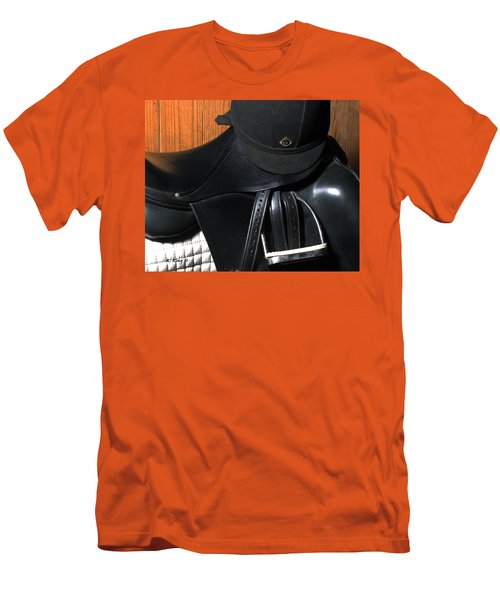 Men's T-Shirt (Slim Fit) featuring the painting Drassage Ready by Roena King
