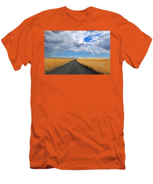 Driving Through The Wheat Fields Men's T-Shirt (Athletic Fit)