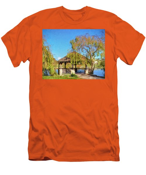 Duck Pond Gazebo At Virginia Tech Men's T-Shirt (Athletic Fit)