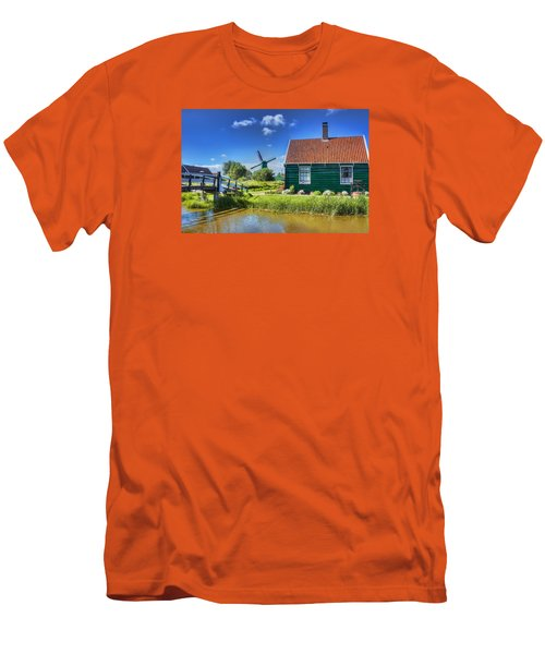 Dutch Village Men's T-Shirt (Slim Fit) by Nadia Sanowar