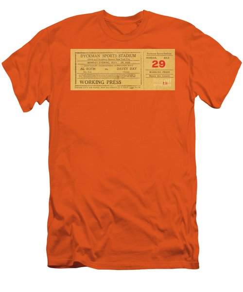 Dyckman Oval Ticket Men's T-Shirt (Slim Fit) by Cole Thompson