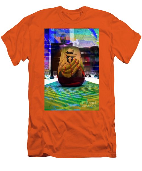 Men's T-Shirt (Slim Fit) featuring the photograph Ecuadorian Vase Art by Al Bourassa